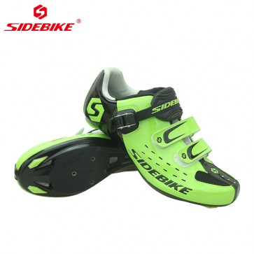 Sidebike SD-001R Road Bike Cycling Shoes Self-locking Green