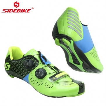 Sidebike SD-011R Road Bike Racing Cycling Shoes Carbon Sole Green