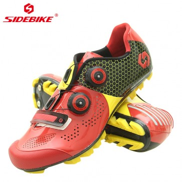 Sidebike SD-011M MTB Bike Cycling Shoes Carbon Sole Red