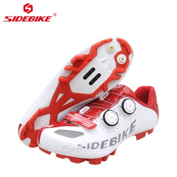 Sidebike SD-002M MTB Bike Cycling Shoes SPD Self-locking Red-White