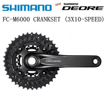 SHIMANO DEORE FC-M6000-3 HOLLOWTECH II Crankset 3x10 Speed