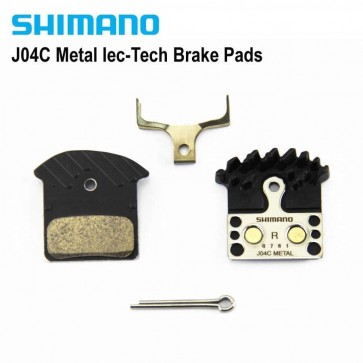 SHIMANO J04C Metal Brake Pads Cooling Fin Ice Tech For MTB