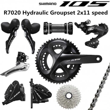 Shimano 105 R7020 Hydraulic Disc Brake Road Bike Full Groupset BR-R7070 2x11 Speed