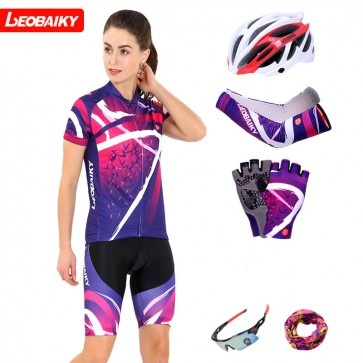 LEOBAIKY LB16-W01 Womens Short Sleeve Cycling Suits
