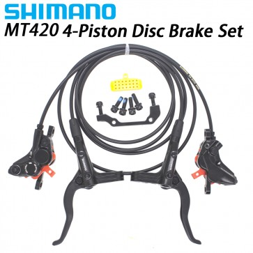 Shimano BR-MT420 4-Piston Hydraulic Disc Brake Set Left & Right