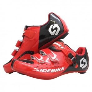 Sidebike SD-001R Road Bike Cycling Shoes Self-locking Red