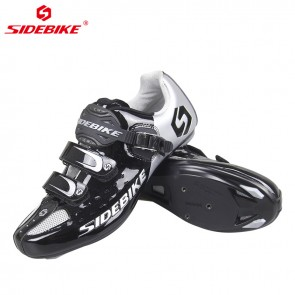Sidebike SD-001R Road Bike Cycling Shoes Self-locking Black