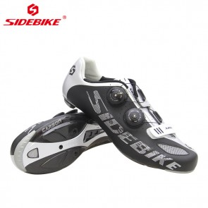 Sidebike SD-002R Racing Road Bike Cycling Shoes Carbon Outsole Black