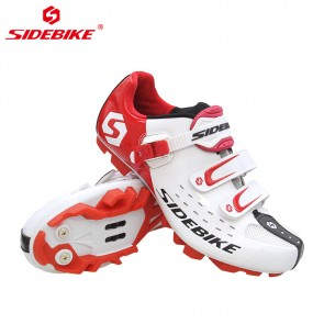 Sidebike SD-001M MTB Bike Cycling Shoes SPD Self-locking White