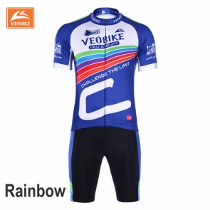 VEOBIKE Unisex Short Sleeve Cycling Jersey Shorts Suits