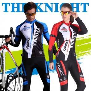 VEOBIKE Unisex Long Sleeve Cycling Jersey Pants Suits