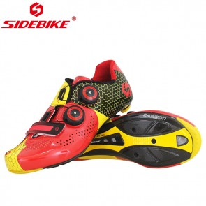 Sidebike SD-011R Road Bike Racing Cycling Shoes Carbon Sole Red