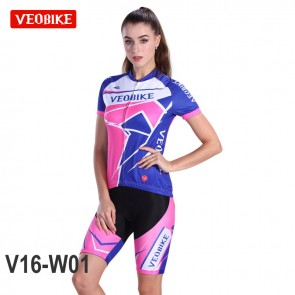VEOBIKE Womens Short Sleeve Cycling Jersey Shorts Suits