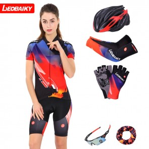 LEOBAIKY LB17-W12 Womens Short Sleeve Cycling Suits