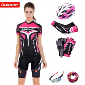 LEOBAIKY LB17-W13 Womens Short Sleeve Cycling Suits