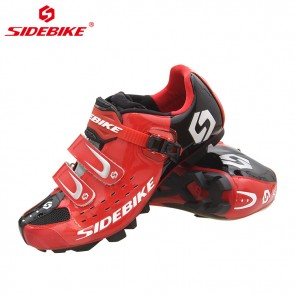 Sidebike SD-001M MTB Bike Cycling Shoes SPD Self-locking Red