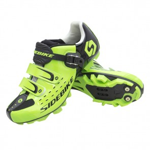 Sidebike SD-001M MTB Bike Cycling Shoes SPD Self-locking Green