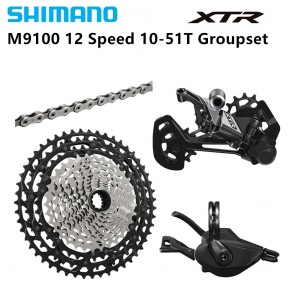 SHIMANO DEORE XTR M9100 Groupset Mountain Bike 1x12 Speed Rear Derailleur Shifter Cassette Chain 10-51T